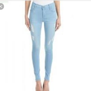 Lite wash blue straight leg jeans
